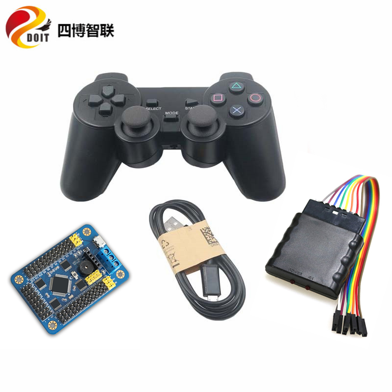 SZDOIT 32-way Servo Control Board+ PS2 Wireless Controller Receiver Kit RC Robot Servo Controller Parts for Arduino