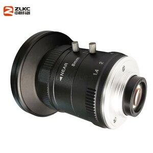 Image 4 - 새로운 모델 8mm 머신 비전 고정 초점 카메라 렌즈 5 메가 픽셀 hd cctv 렌즈 1 인치 f1.4 수동 아이리스 c 마운트 낮은 왜곡 렌즈