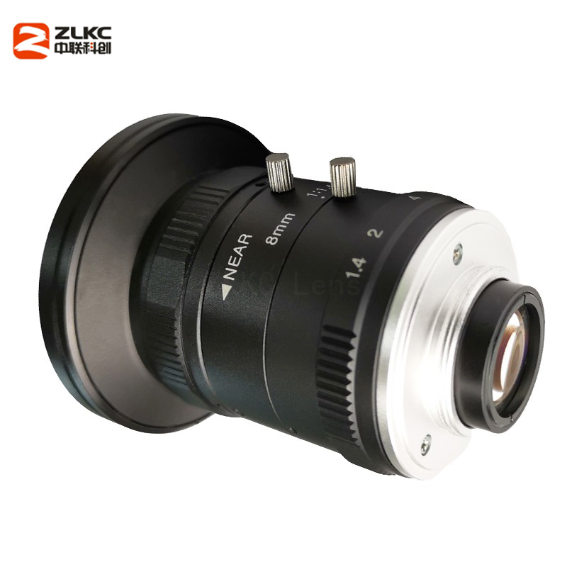 Image 4 - New Model 8mm Machine Vision Fixed Focal Camera Lens 5Megapixel HD CCTV Lens 1 Inch F1.4 Manual Iris C Mount Low Distortion Lens-in CCTV Parts from Security & Protection