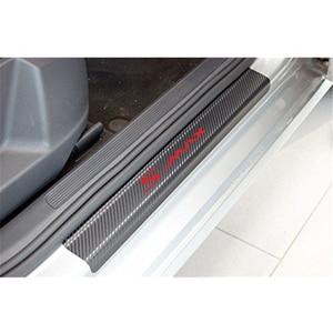 Image 4 - 4PCS רכב דלת אדן מדבקות עבור פורד s max פחמן Fibe אנטי שריטה אוטומטי דלת הגנת סרט מדבקות אביזרי רכב סטיילינג