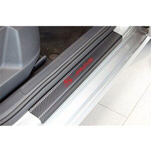 Image 4 - Pegatinas para umbral de puerta de coche, para FORD s max, fibra de carbono, antiarañazos, película de protección de puerta automática, adhesivos, accesorios de coche, estilo, 4 Uds.