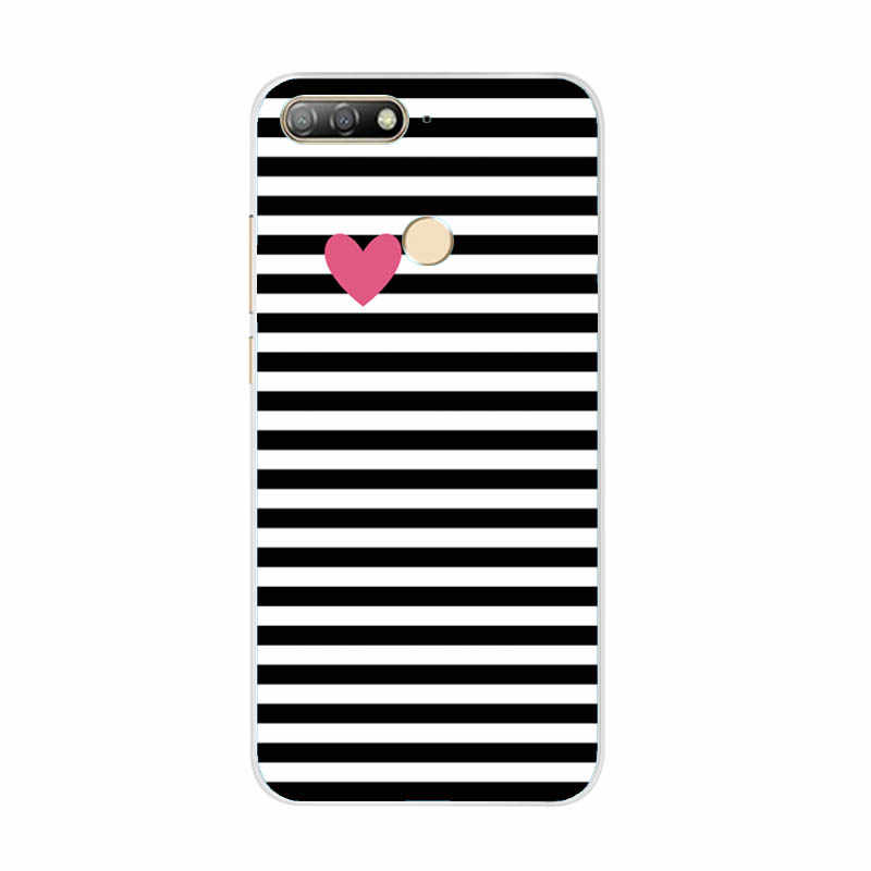 "Voor Huawei Honor 7C Case Cover 5.7 ""Soft TPU Siliconen Bumper op Honor 7C Gevallen voor Huawei Honor 7C AUM-L41 Telefoon Case Back Cover"