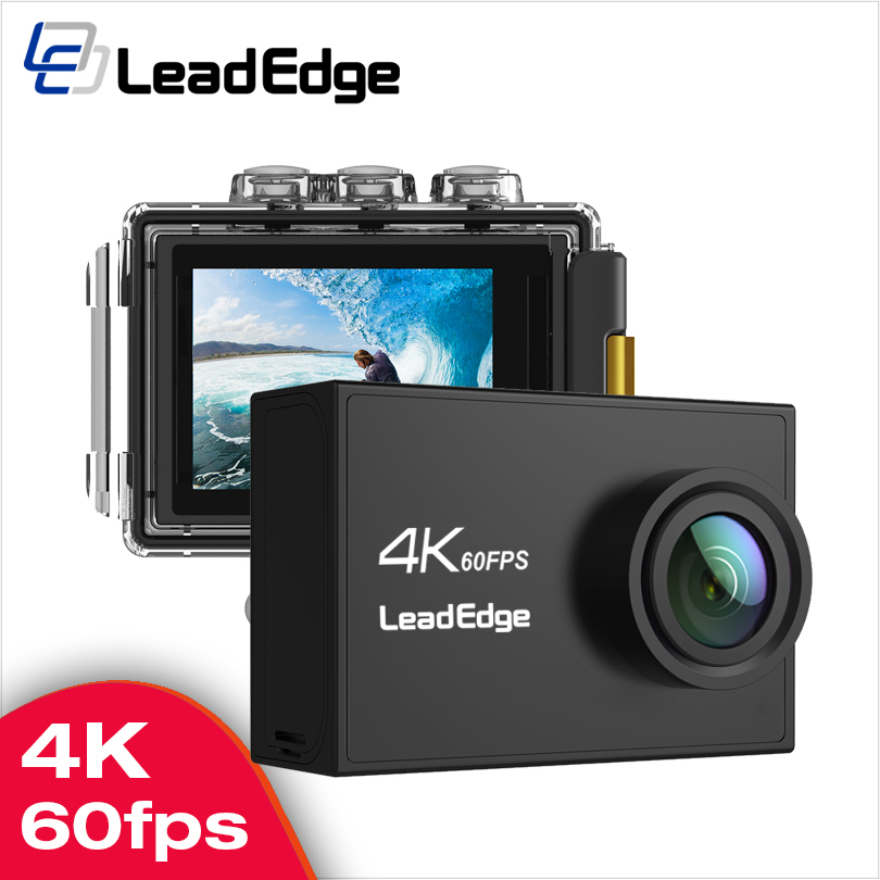 "LeadEdge V39 action camera 4K / 60FPS 20MP 2.0"" IPS Touch LCD EIS Dual MIC WiFi webcam waterproof Pro Helmet cam go Sport camera"