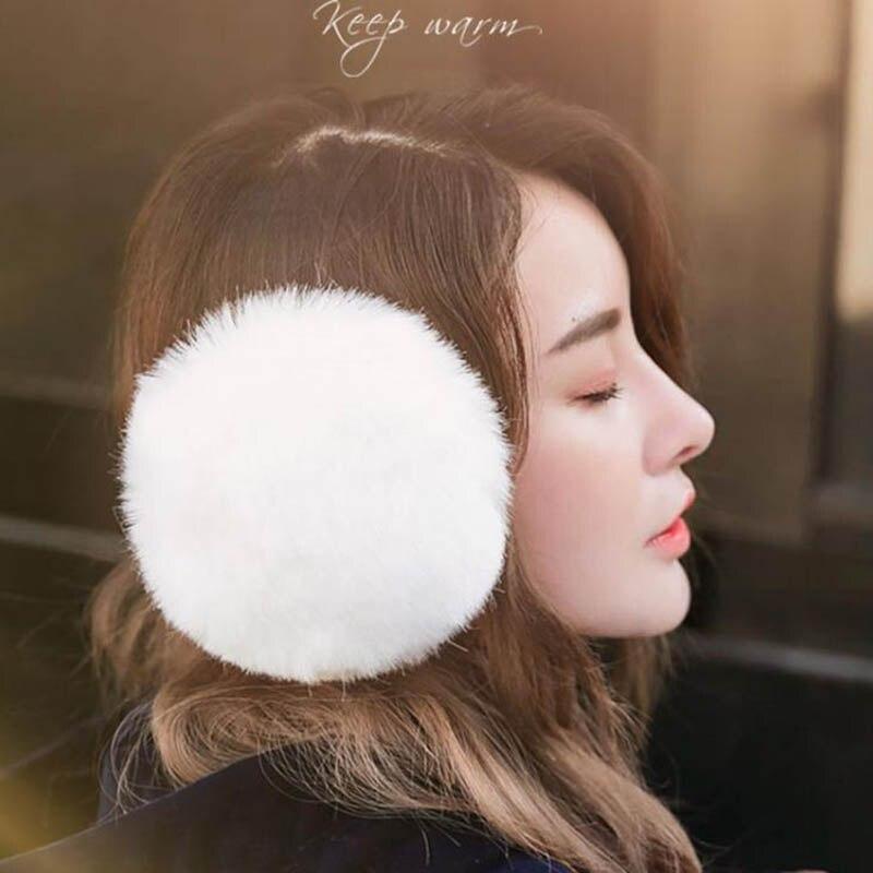 Calymel Winter Earmuff Imitation Rabbit Women Fur Earmuffs Winter Ear Warmers Large Plush Girls And Boys Ear Warmers Earmuffs