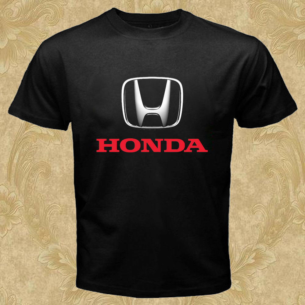 Honda Logo Cars T-Shirt Black New