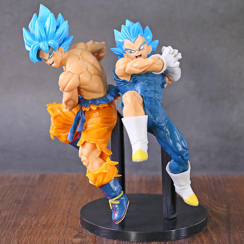 Dragon ball super tag fighters super saiyan deus ss filho goku/vegeta pvc figura collectible modelo de brinquedo