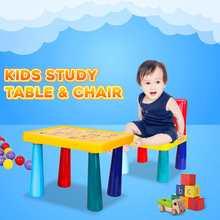 Chair-Table-Set Colorful Furniture Study-Desk Plastic Kids Children Play Activity Folding