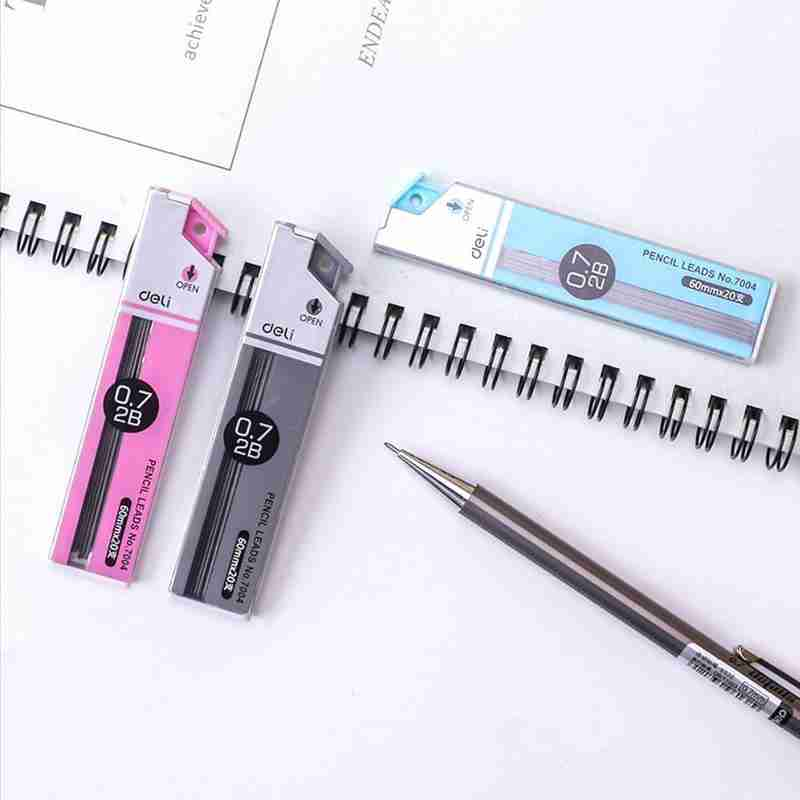 20PCS 0.5mm 0.7mm Pencil Leads Anti-cracking 2B Mechanical Pencil Refill Student School Office Stationery Supplies image