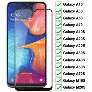 9D Protective Glass For Samsung Galaxy A10 A30 A50 A70 A10S A20E A20S A30S A40S Screen Protector A50S A70S M10S M30S Glass Film(China)