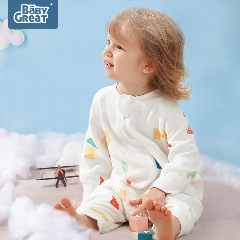 BabyGreat Baby Sleeping Bag Open Legs Design Spring Autumn Cartoon Pattern Breathable Newborn Sleepsacks Warm Sleeping Bags