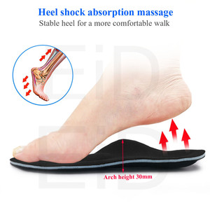 Image 4 - 5D High quality Strong orthotic insole for Flat Feet high Arch Support orthopedic shoes sole Insoles for men and women OX Leg