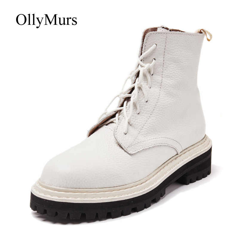 botas mujer 2019 Casual Shoes Women White Martin Boots