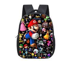 Cartoon super Mario plecak urocza torba przedszkole dla dzieci plecak piękny popularny wzór chłopcy plecak dla dziewcząt tanie tanio KKABBYII NYLON Miękki uchwyt Unisex Miękka NONE Na co dzień GB52 Poliester zipper Plecaki