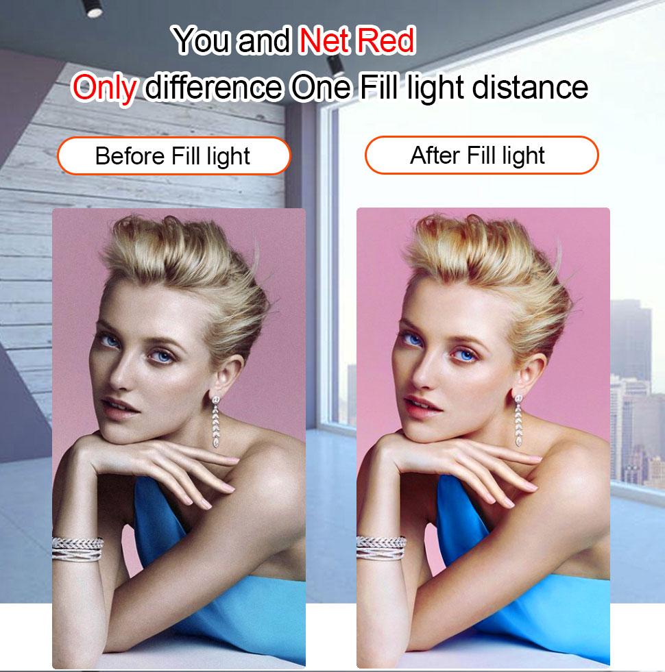 H93181dc1ebf344cc94edf487527650a4X Orsda 10-12 Inch Led Ring Light with Tripod Ring Light Selfie Ring Light RGB 26 Colors Video Light Makeup Live Video Streaming
