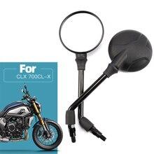 10mm Retro Motorrad Rückspiegel, Für CFMOTO CLX 700CL X CF700 2, Rückansicht Spiegel Rückseite