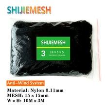 Red antiaves de nailon para huerto monofilamento anudado, gran calidad, 10M x 3M, 15mm, 0,11mm