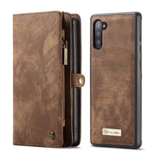 CaseMe Magnetic Wallet Case Luxury Original Leather Multifunction Flip For Samsung Galaxy Note10 Note10Plus KS0290