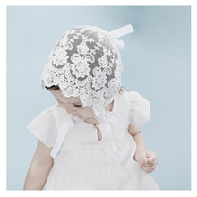 цена на European and American baby darling photography hats cotton lace lace lace lace lace lace embroidered children's hats, cute fetal