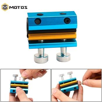 ZS MOTOS de Cable de aluminio herramienta para lubricante de lubricación de aceite de línea de freno de combustible Cable de embrague línea clara limpio lavadora