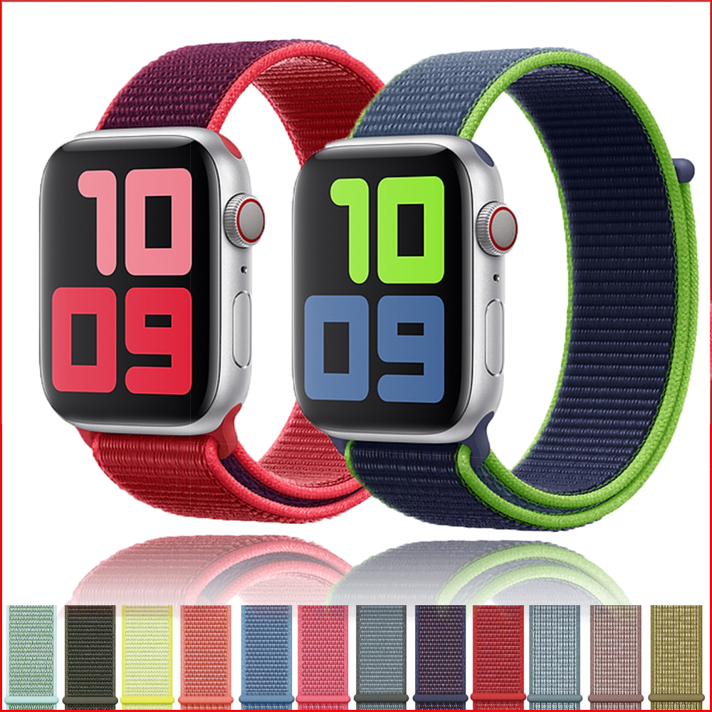 Strap For Apple Watch Band Apple Watch 5 4 44mm 42mm Iwatch Band 3 2 5 42mm 38mm Sport Loop Correa Nylon Loop Bracelet Watchband