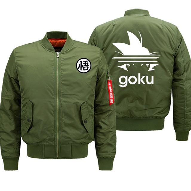 Dragon Ball Streetwear Mens Jacket Cartoon Saiyan Warm Clothing Motorcycle Bomber Hip Hop Winter Hot Sale Jackets Coat Thick