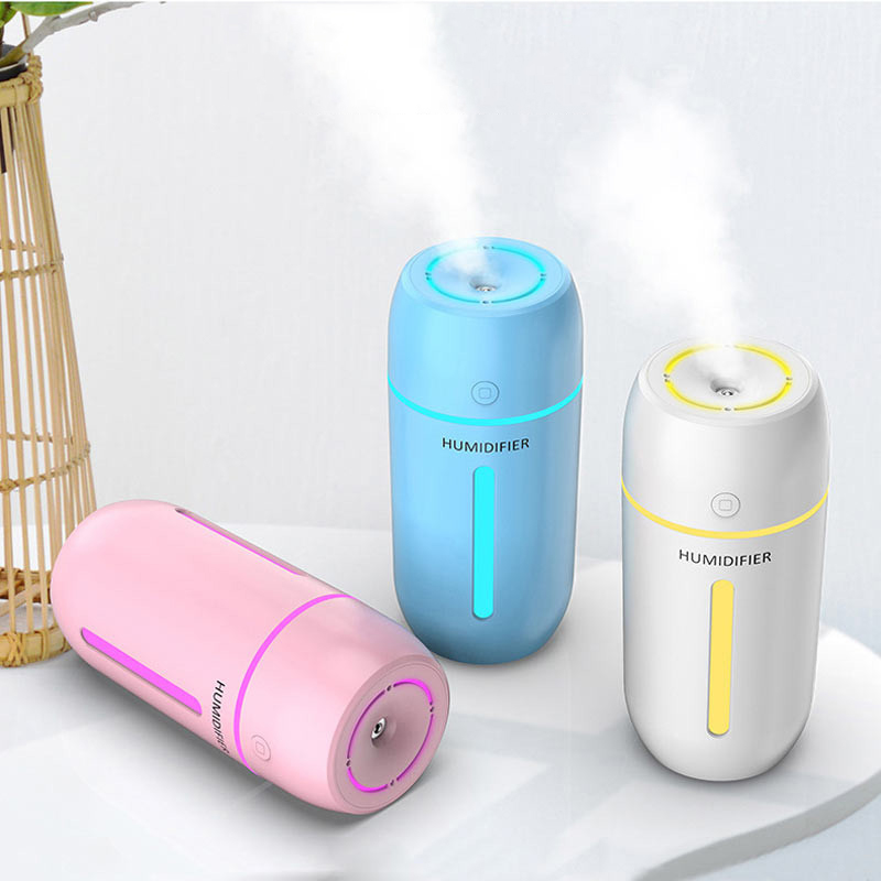 ELOOLE 320ML Air Humidifier With Battery For Home Office Portable USB Aroma Diffuser Car Mist Maker Ultrasonic Humidification