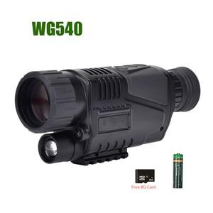 Image 4 - WG540 אינפרא אדום דיגיטלי ראיית לילה חד עיניות עם 8g TF כרטיס מלא כהה 5X40 200m טווח ציד משקפת ראיית לילה אופטיקה