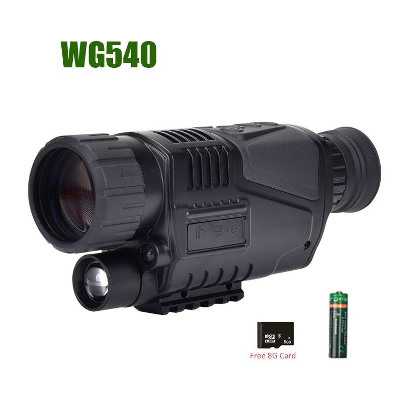 WG540 Digital infrarroja monoculares de visión nocturna con 8G TF tarjeta completa oscuro 5X40 200M rango de caza Monocular óptica de visión nocturna - 5