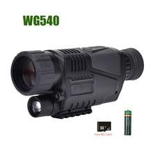 WG540 Infrared Digital Night Vision Monoculars with 8G TF card full dark 5X40 200M range Hunting Monocular Night Vision Optics
