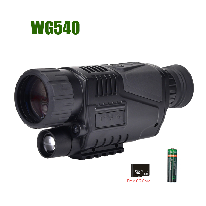 WG540 monoculaires de Vision nocturne numérique infrarouge avec carte 8G TF pleine obscurité 5X40 200M gamme optique de Vision nocturne monoculaire de chasse - 4