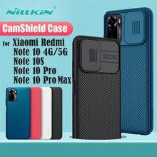 Dành Cho Xiaomi Redmi Note 10 Pro Max Bao Note10 10S 4G Ốp Lưng 5G NILLKIN CamShield Trượt Camera bảo Vệ Ống Kính Cho Redmi Note10 Pro