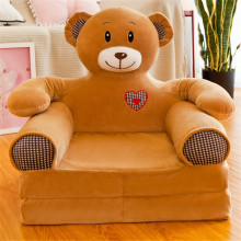 Sofá para bebés y niños solo cubre sin relleno asiento de corona de dibujos animados silla para niños Piel de soplo suave funda para niños pequeños para sofá plegable