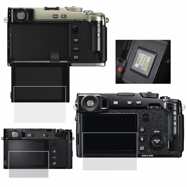 Couvercle de protection décran LCD en verre trempé auto-adhésif pour appareil photo Fujifilm Fuji X-pro2 X-pro3 XPRO2 XPRO3 X100V