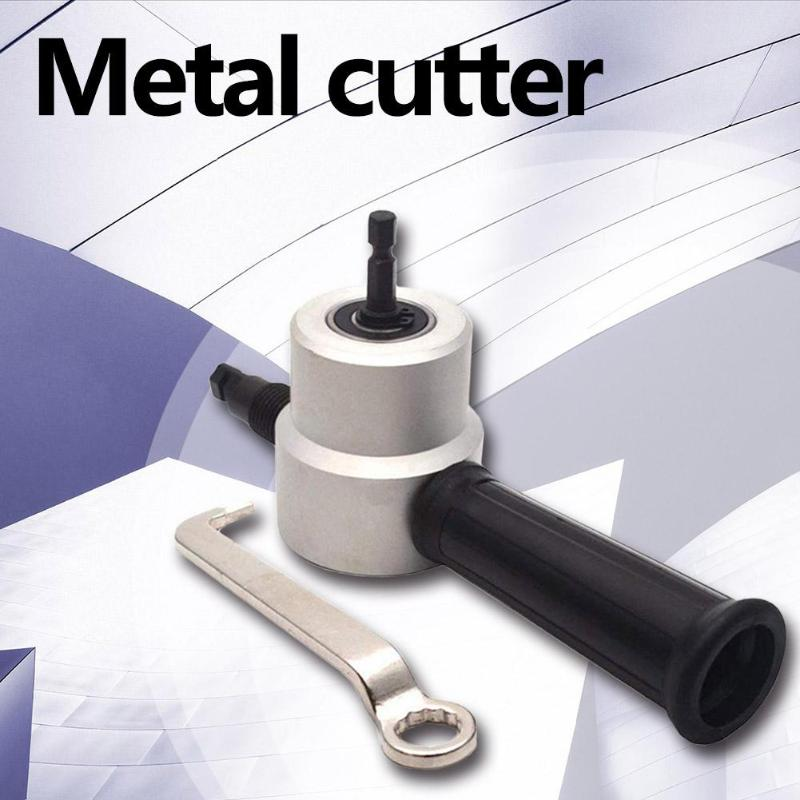 Double Head Metal Plate Sheet Cutter Tools Nibbler Saw Cutting Drill Attachment Curve Hole Opener Hand Tool Supplies