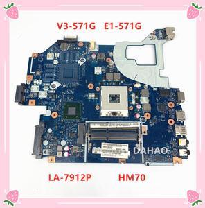 Q5WVH Q5WV1 LA-7912P Mainboard For ACER Aspire E1-571G V3-571G V3-571 E1-531 Laptop motherboard NBC1F11001 SJTNV HM70 DDR3