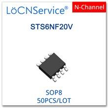LoCNService 50 sztuk SOP8 STS6NF20V N CHANNEL wysokiej jakości STS