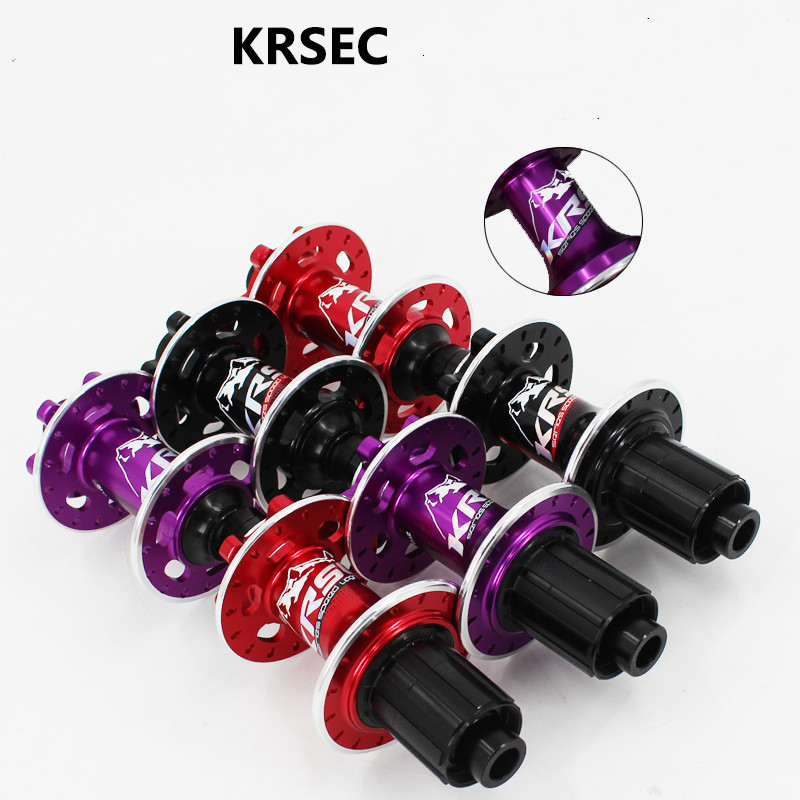 KRSEC Bicycle Hub MTB Cross Country Hub QR Thru-axis hubs 6 Claw CNC front rear 4 bearing 32 holes barrel shaft bike parts image