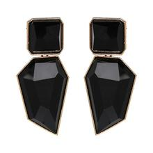Fashion Bohemia Brand Gold Color Irregular Square Shiny Metal Big Drop Earring Women Rhombus Punk Earring Party Jewelry/Brincos цена