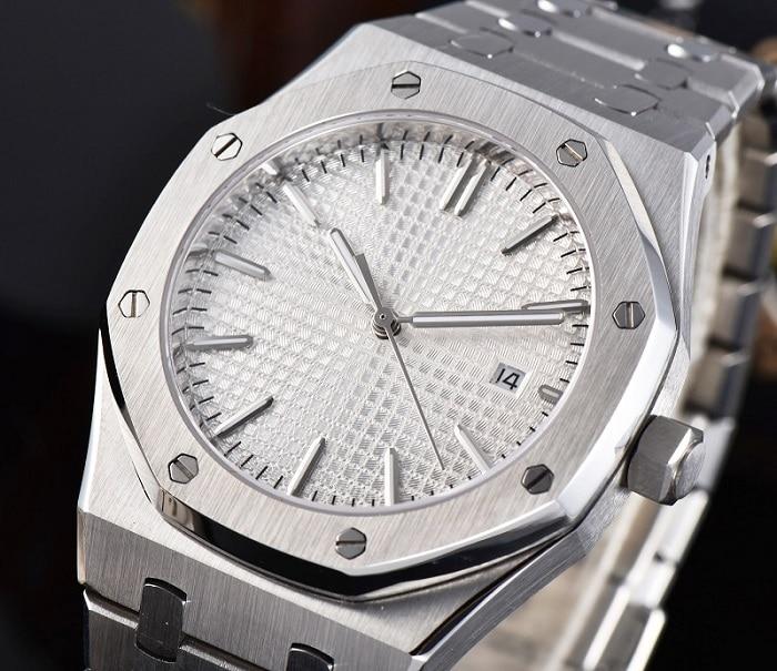 Automatic Watch 41mm Luxury AAA Case Sport Men's Stainless Steel Bracelet Movement