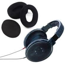 Coussin d'oreille couvre-oreilles, coussin d'oreille de remplacement, oreillettes avec couvercle d'écouteurs pour Sennheiser HD545 HD565 HD580 HD600 HD650