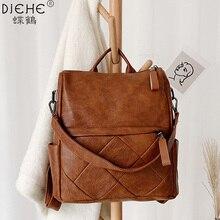 Moda feminina mochila de alta qualidade de couro macio mochilas escolares para meninas casual grande capacidade do vintage sacos ombro