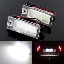 2pcs canbus Car LED Number License Plate Light 18 SMD Super White Lamp 12v for Volvo V70 I/XC70 I/S60/S80/XC90