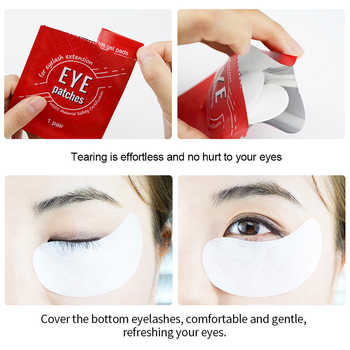 NAGARAKU Eyelash Extension Eyepads Gel Eyepads Hydrogel Eyepatch Under Eyepads Wholesale Set High Quality Lint Free Makeup Tools