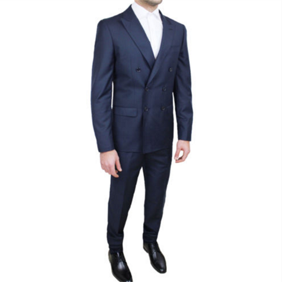 New Men's Suit Smolking Noivo Terno Slim Fit Easculino Evening Suits For Men Groom Tuxedos Costme Homme Shawl Lapel Double Breas