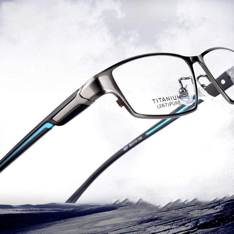 Vazrobe Brand Eyeglasses Frames Men Titanium Glasses Male Full Rim Spectacles For Prescription Ultralight Myopia Eyewear