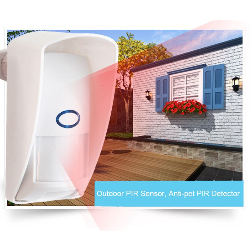 Outdoor PIR Sensor Infrared Detector 433Mhz Pet Immune Waterproof Pir Infrared Motion Sensor For GSM WIFI Home Security System