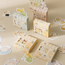 Warm 45Pcs/lot Kawaii Cute Animal DIY Stationery Lable Sticker Kids Stickers Planner Scrapbooking Bullet Journal School Supplies