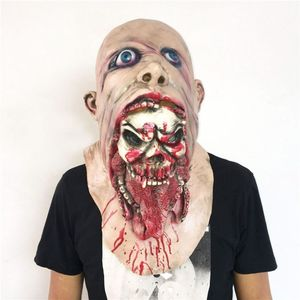 Image 2 - Latex Zombie Halloween Mask Melting Horror Costume Dead Scary Head Masks Bloody
