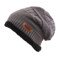 Winter Hat For Women Men Knitted  Hot Selling Ski Cap Cold Warm Leather Bonnet Skullies Beanies