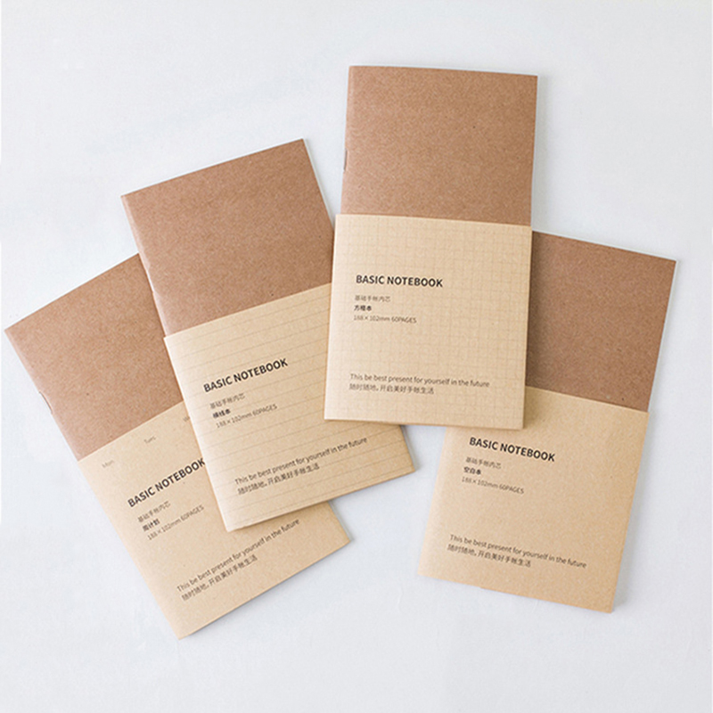 1PCS Refillable Paper Traveler's Notebook Filler Papers Journal Dairy Inserts Refill Midori Leather Notebook Blank Line Kraft